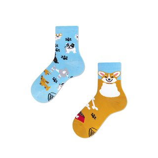 Socken Kids Playful Dog von Many Mornings 31/34