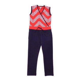 Lofff Jumpsuit wave red-blue