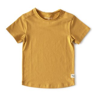 little label T-Shirt golden yellow