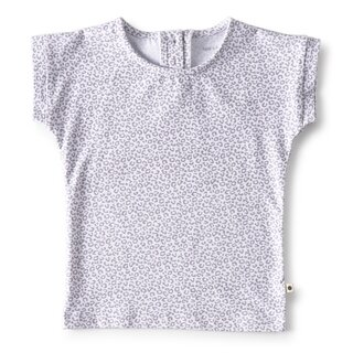 little label T-Shirt grey leopard