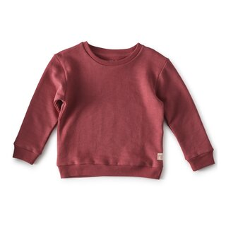 little label Sweatshirt darkrose
