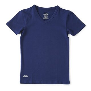 little label Basic T-Shirt dark blue
