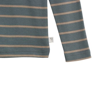 Wheat T-Shirt Striped LS dark petroleum