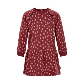 Minymo Sweatkleid mit Tupfen oxford red