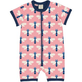 maxomorra Rompersuit Short / Spieler mit Libellen