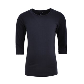 Lofff Basic T-Shirt 3/4 Sleeve dark blue