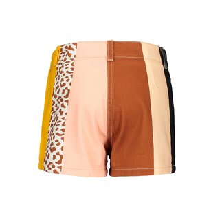 LIKE FLO Rainbow Denim Short cognac stripe